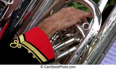 Brass orchestra detail