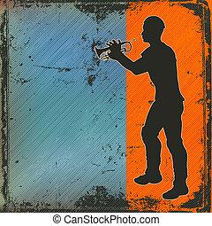 Brass Player - Brass Cornet Player Background