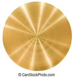 Brass round metal plate or disk