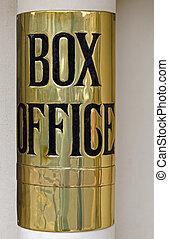 Theatre box office sign - Brass Theatre box office sign