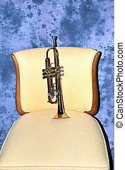 Brass trumpet.