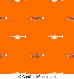 Brass trumpet pattern seamless