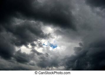 brassage, nuages, orage