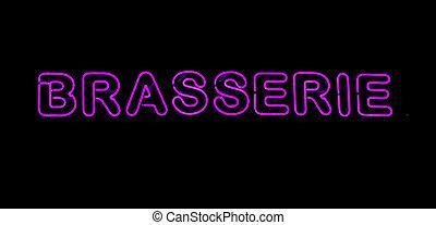 Brasserie neon sign