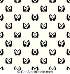 Brassiere fashion icon, simple black style