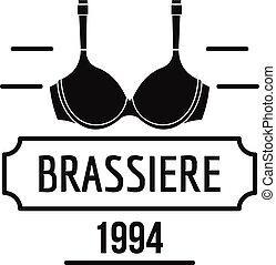 Brassiere logo, simple black style - Brassiere logo. Simple...