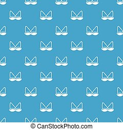 Brassiere sexy pattern vector seamless blue repeat for any...