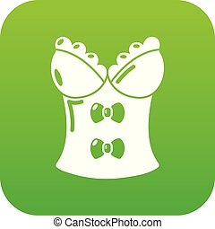 Brassiere shop icon, simple black style