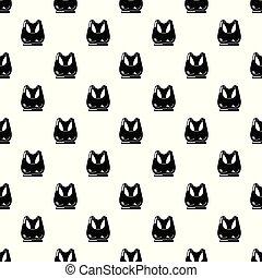Brassiere sport icon, simple black style - Brassiere sport...