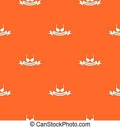 Brassiere summer pattern vector orange for any web design...