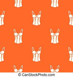 Brassiere top pattern vector orange for any web design best