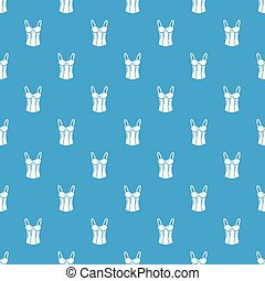 Brassiere top pattern vector seamless blue repeat for any...