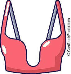 Brassiere women icon, cartoon style