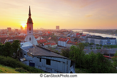 Bratislava at sunrise
