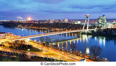 Bratislava bridge and Danube