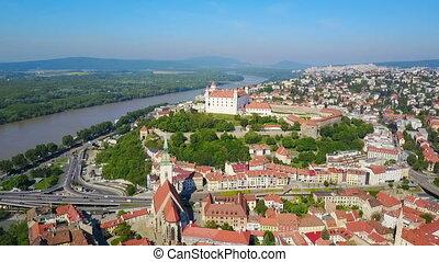 Bratislava Castle aerial view - Bratislava Castle or...