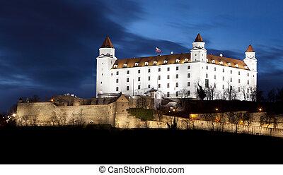 Bratislava castle and bridge - Slovakia