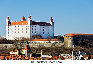 BRATISLAVA, SLOVAKIA - MARCH 7: View of Old Castle on March 7, 2011. Bratislava is the capital city of Slovakia and a mayor tourist destination.