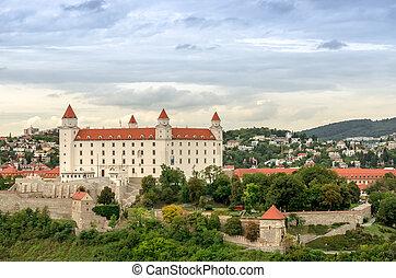 Bratislava Castle, Slovakia - Medieval Bratislava castle in...