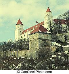 Bratislava Castle - Medieval Castle on hilltop in...