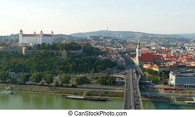 """bratislava castle view, slovakia, 4k"""