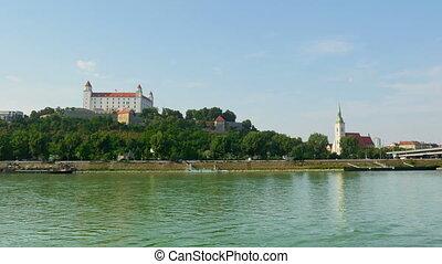 """""""bratislava castle view, slovakia, timelapse, zoom in, 4k"""""""
