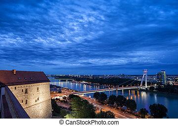 Bratislava City Evening Cityscape