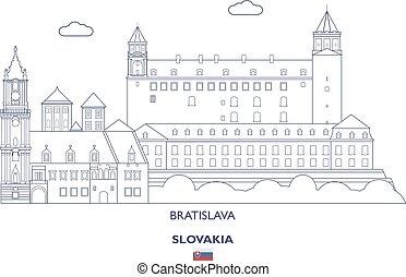 Bratislava City Skyline, Slovakia