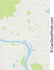 Bratislava colored vector map