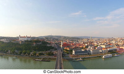 """bratislava old town view, slovakia, 4k"""