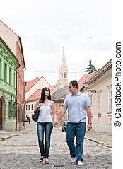 Bratislava old town walking