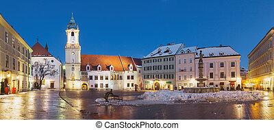 Panoramic view of Bratislava Main Square