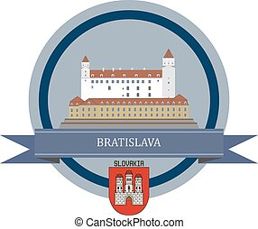 Bratislava ribbon banner