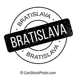 Bratislava rubber stamp. Grunge design with dust scratches....