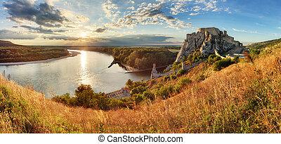 Bratislava, ruin of castle Devin, Slovakia