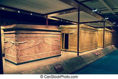 Tutankhamun's sarcophagus - BRATISLAVA, SLOVAKIA - DECEMBER...