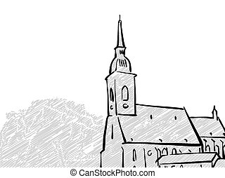 Bratislava, Slovakia famous Travel Sketch