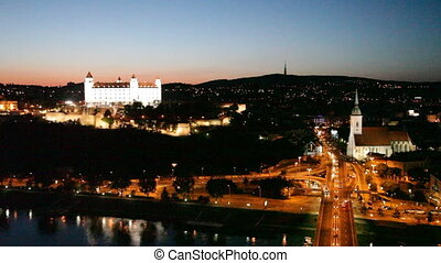 BRATISLAVA, SLOVAKIA-JULY 27: View of the old castle in...