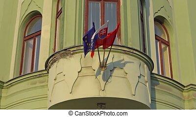 BRATISLAVA, SLOVAKIA - November 2013: the Slovak and...