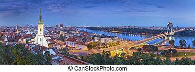 Bratislava, Slovakia. - Panoramic image of Bratislava, the ...