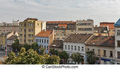 bratislava, v centru města, cityscape, slovakia.
