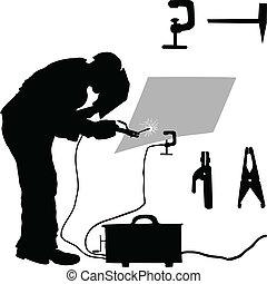 brauen, elektrisch, und, accessoirs