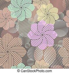 brauner, abstrakt, pattern., seamless, vektor, geometrisch