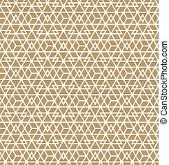 brauner, muster, abstrakt, linien, seamless, hintergrund, geometrisch, .white