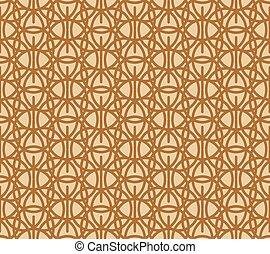 brauner, muster, abstrakt, seamless, maßwerk, beige, geometrisch