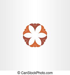 brauner, symbol, ikone, gemeinschaftsarbeit, leute
