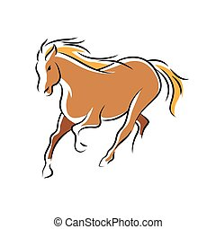 braunes pferd, symbol