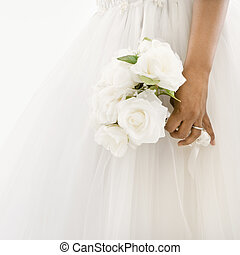braut, besitz, bouquet.