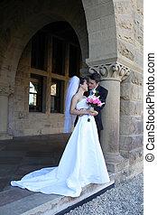 braut bräutigam, an, wedding
