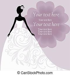 braut, weisses kleid, wedding